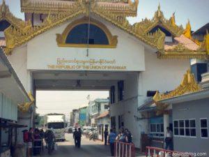 Travessia por terra Myanmar