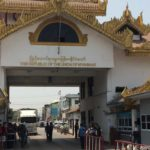 Crossing the land border from Thailand to Myanmar