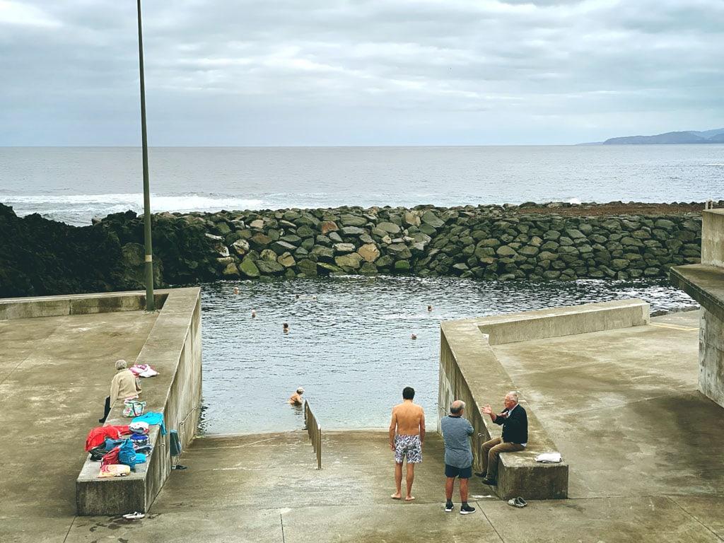 Poços de São Vicente na Ilha de São Miguel nos Açores