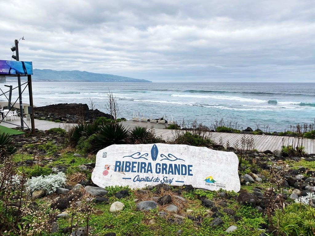 Praia de Santa Bárbara na Ilha de São Miguel nos Açores