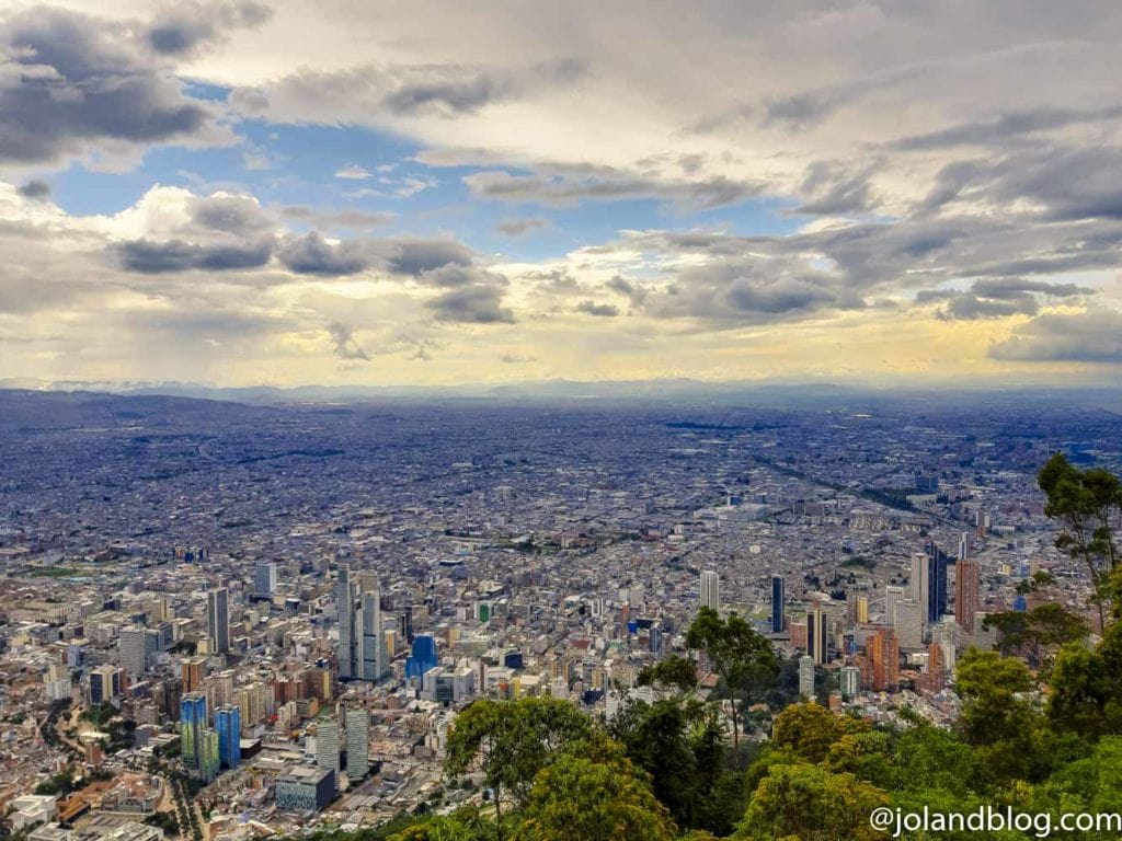 Vista sobre Bogotá do Parque Monserrate