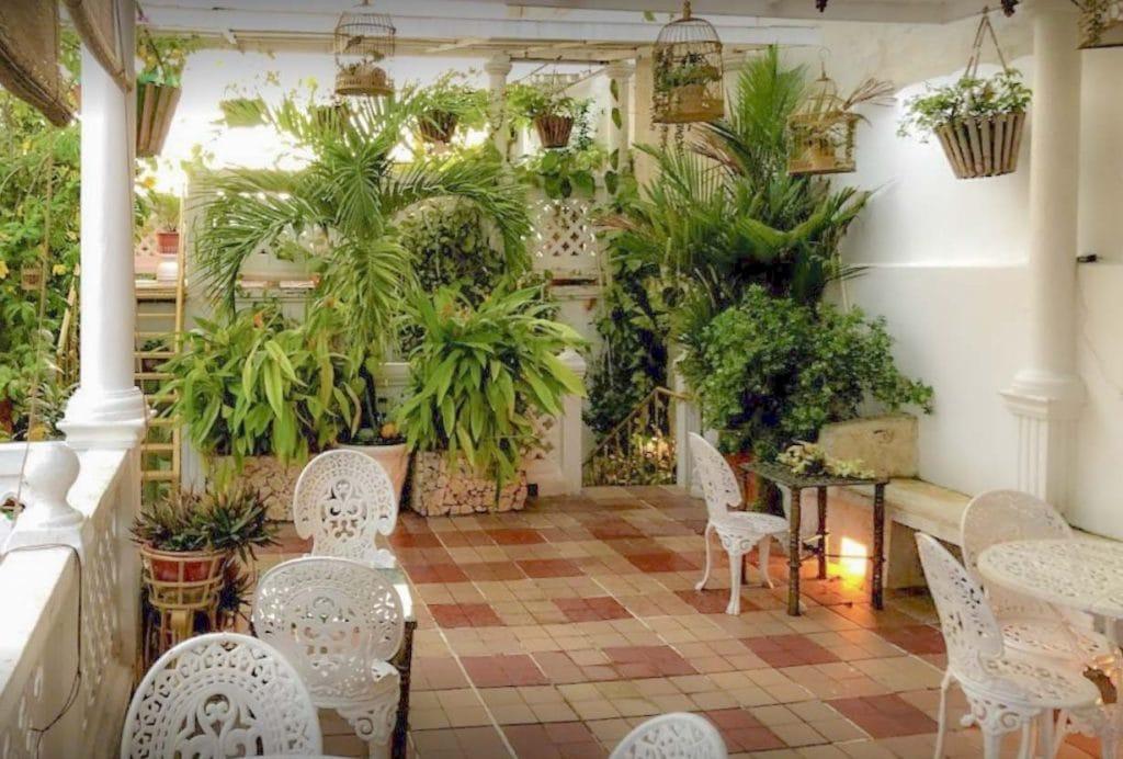 Terraço na Casa Mary em Cartagena