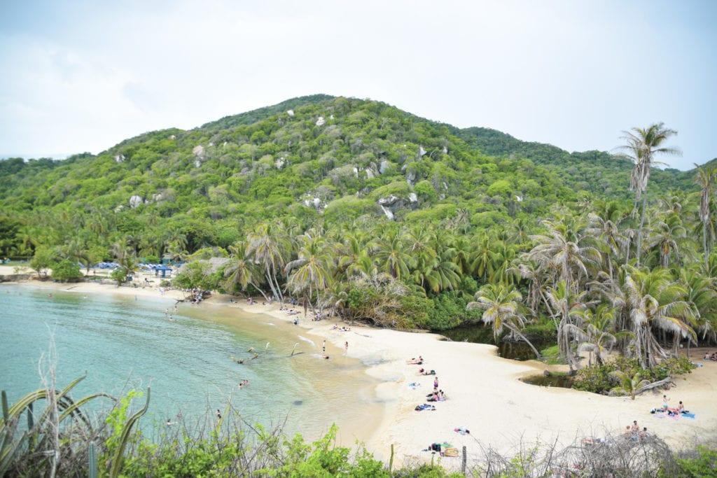 Praia no Parque Tayrona / Beach at Tayrona Park