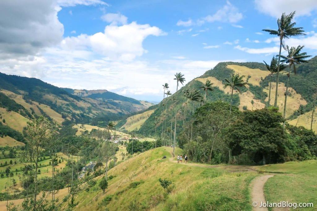 Paisagem no Valle de Cocora na Colômbia