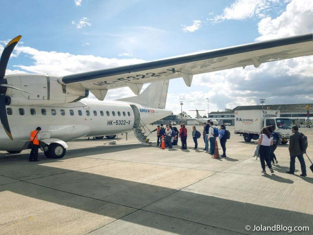 Avião em Bogotá - Viajar dentro da Colômbia