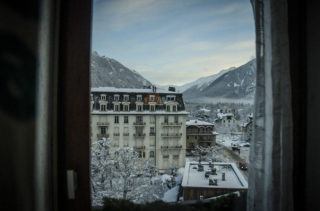 Vista sobre Chamonix, em França, um dos melhores destinos de Inverno da Europa