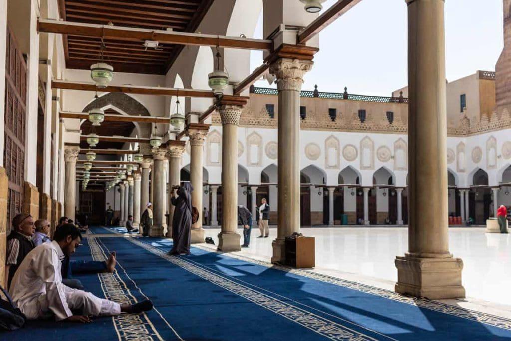 Interior de mesquita no Egito