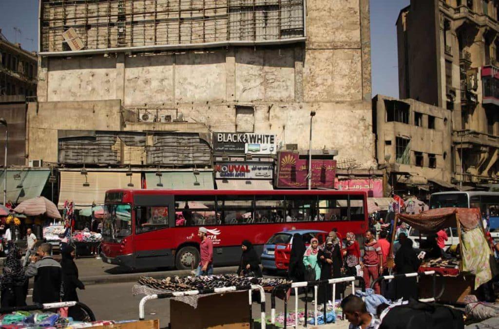 Rua no Cairo no Egito