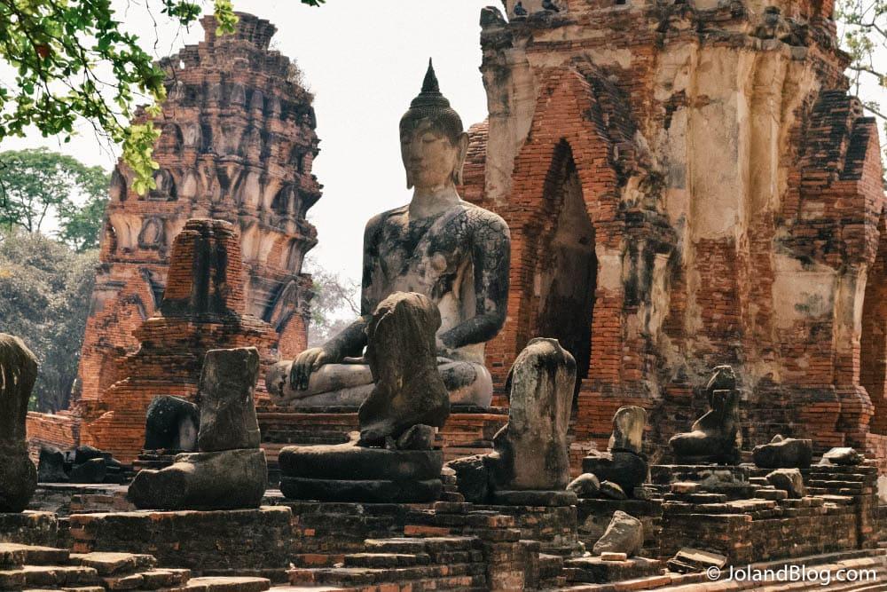 Ruinas em Ayutthaya