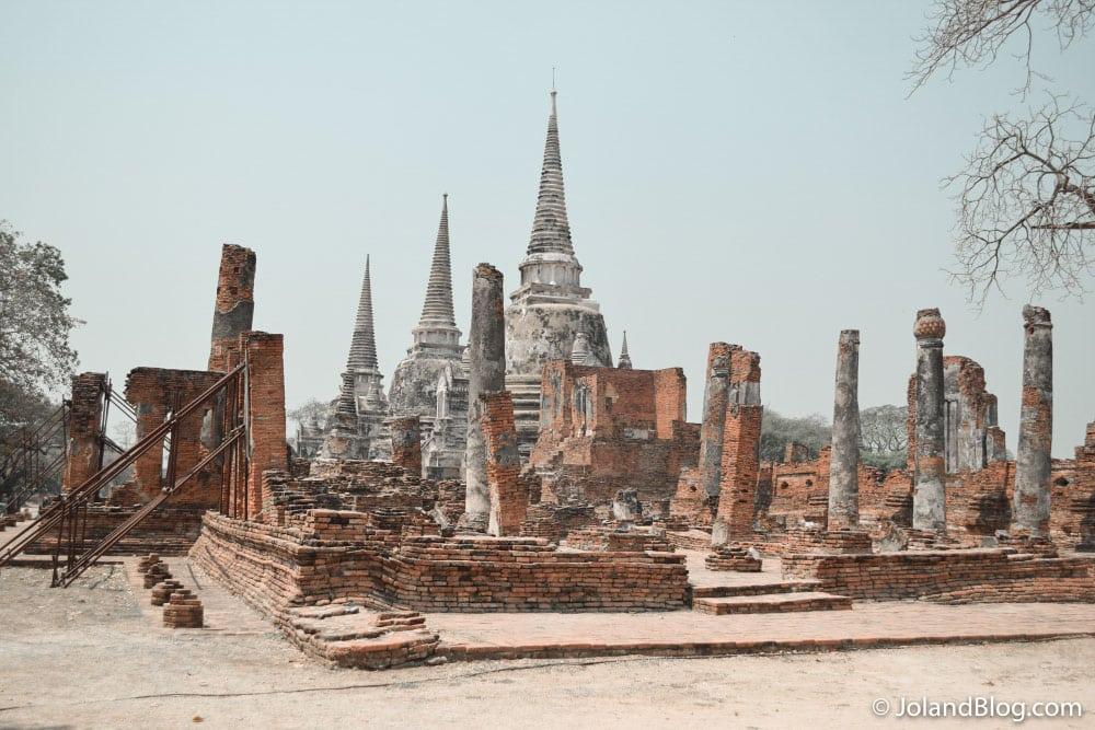 Ruinas de templos em Ayutthaya