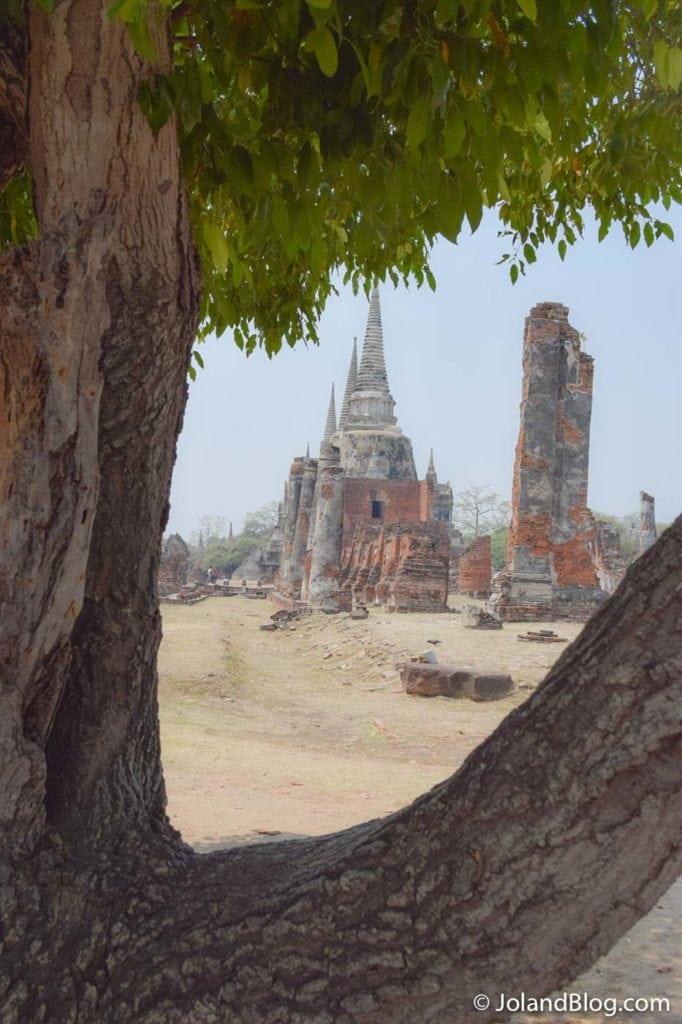 Vista sobre os templos