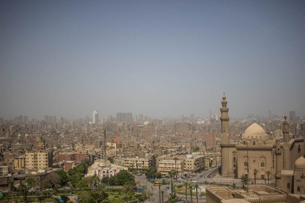 Vista sobre a cidadela no Cairo