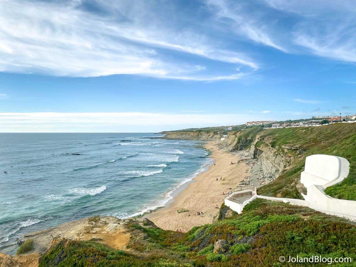Vista sobre a Praia de São Sebastião na Ericeira