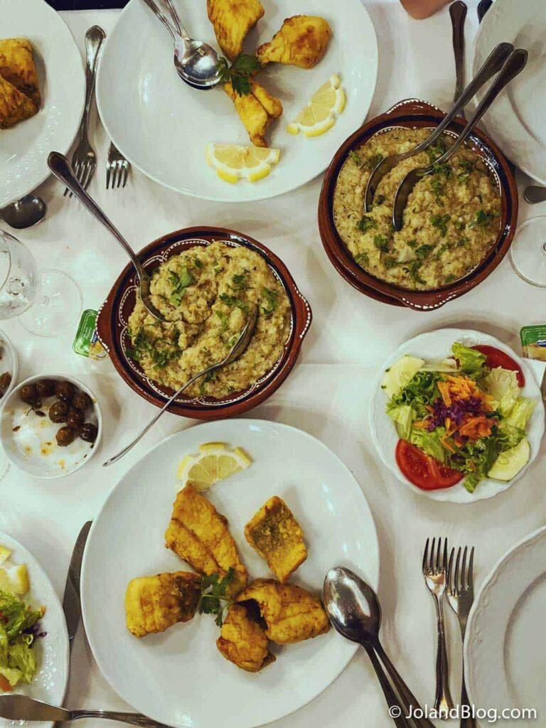 Fataça com Açorda no Restaurante Dom José Pinhão em Constância