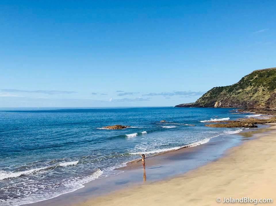 Praia na Ilha de Santa Maria, nos Açores
