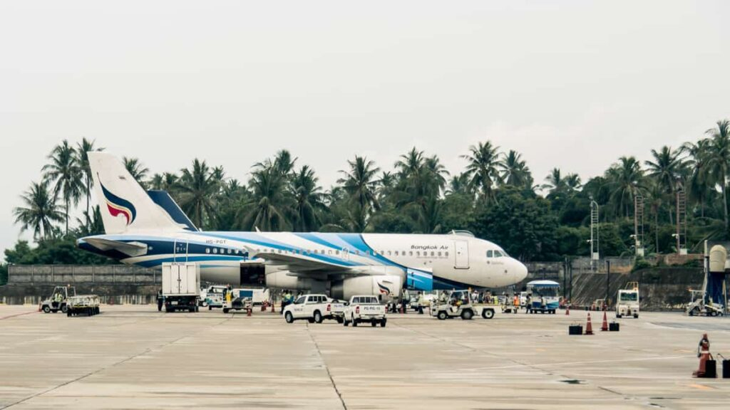 Avião em Bangkok, Tailândia
