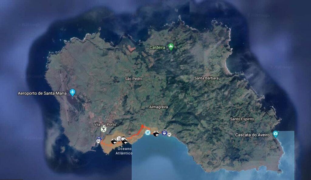 Trilhos Ilha Santa Maria, Açores | Trilho Costa Sul