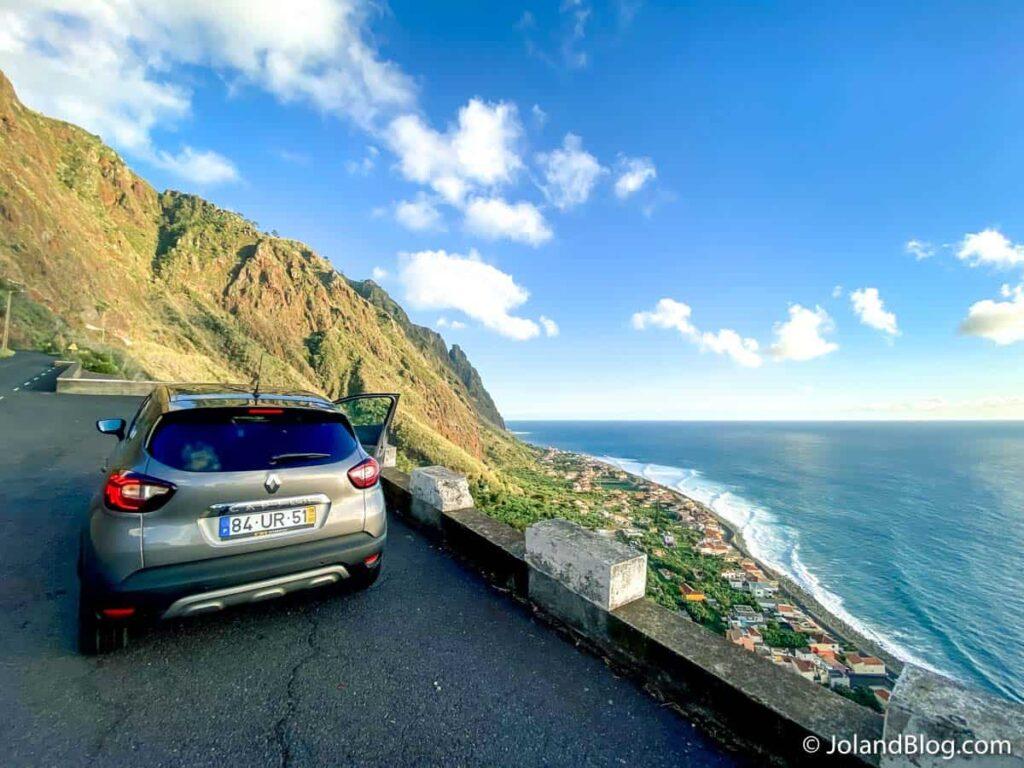 Carro alugado pela Driving Madeira, na Ilha da Madeira