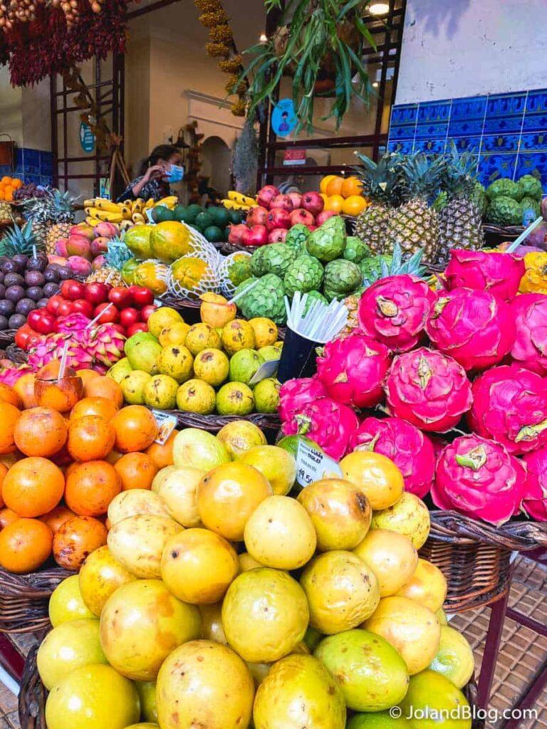 Frutas no Mercado dos Lavradores, na Madeira