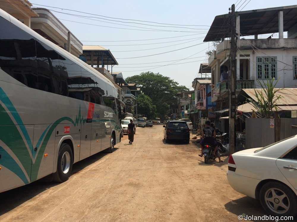 Bus in Myawaddy, Myanmar