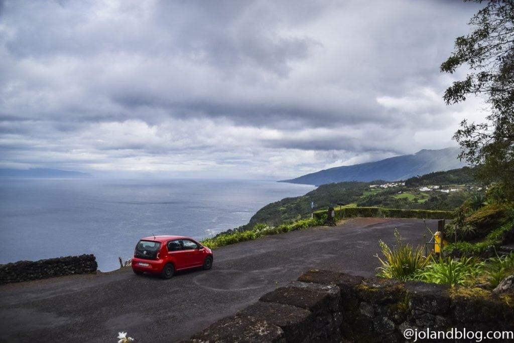 Rental car at Pico Island, Azores