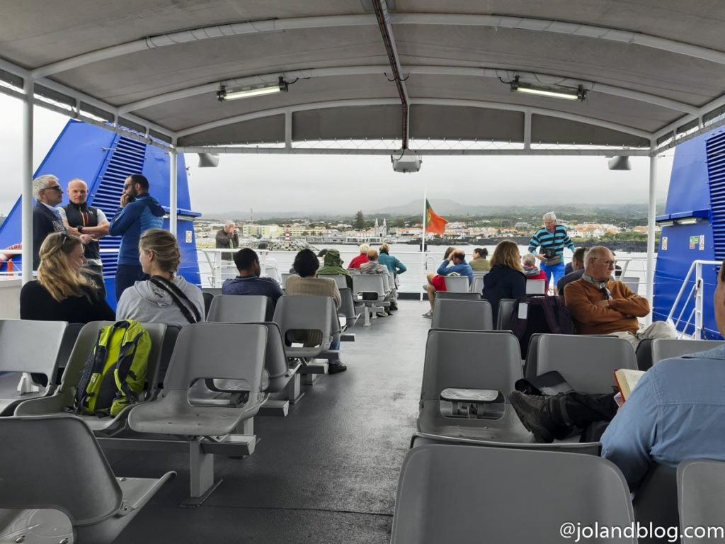 Ferry from Faial to Pico Island, Azores